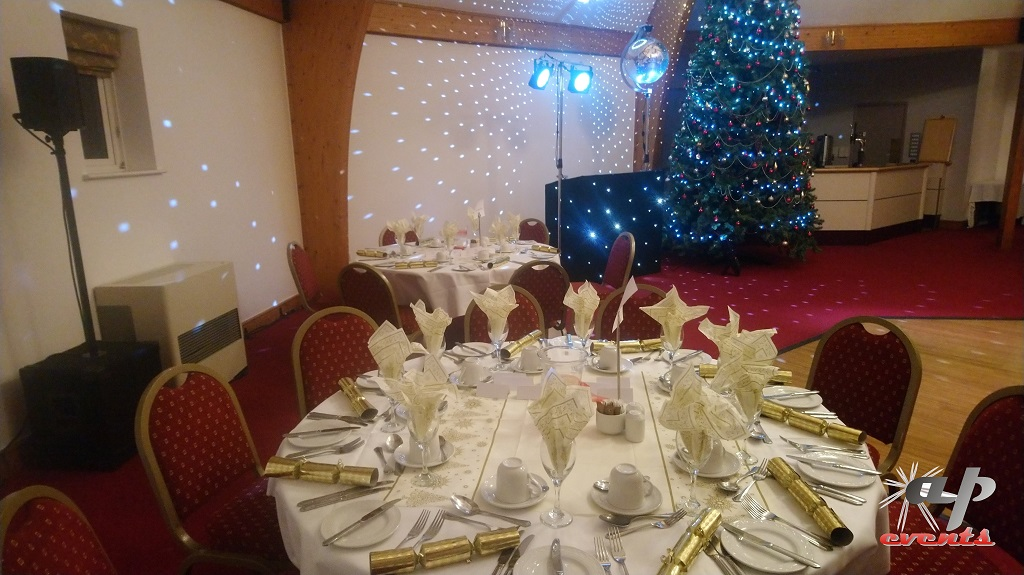 An image showing a Christmas party setup in Tenterden, Kent