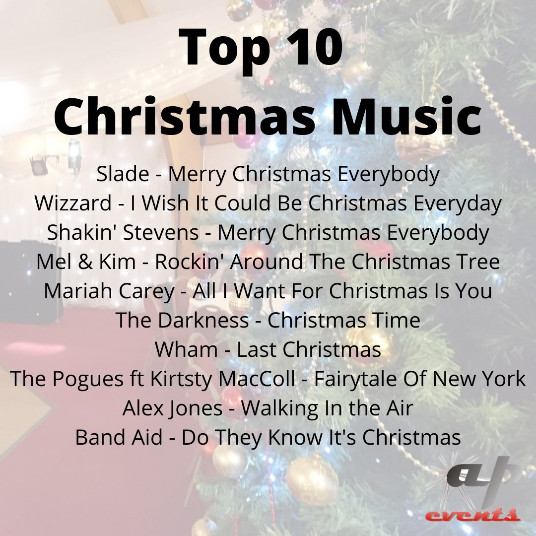 Our list of top Christmas songs