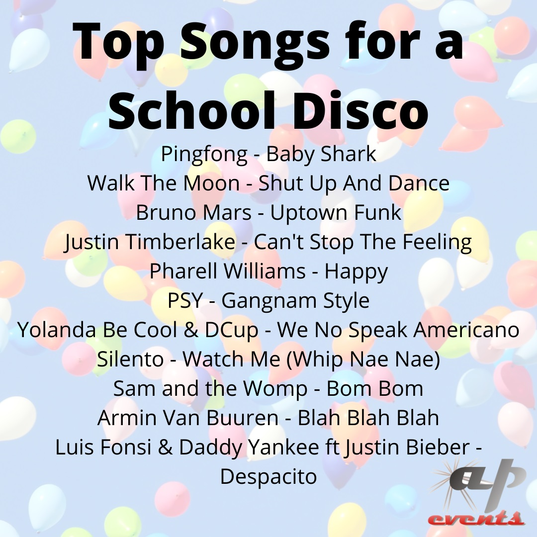 Our list of top floor fillers for a school disco