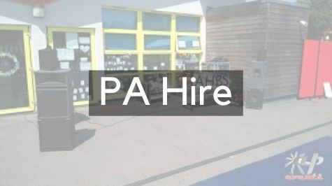 PA hire perfect for a party, wedding or fete